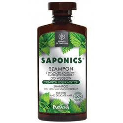 Saponics Szampon d/włosów cieńkich i delikatnych 330 ml